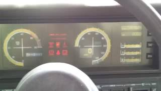 1988 Cadillac Allante Start up and dash display