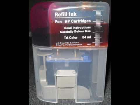 How to Refill HP Color ink Cartridges.wmv