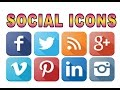 How to Add Social Media Icons to Any Website. thumbnail