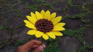 DIY Felt Sunflower | Cara Membuat Bunga Matahari Flanel
