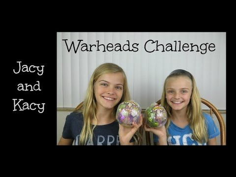 Warheads Challenge ~ Jacy and Kacy