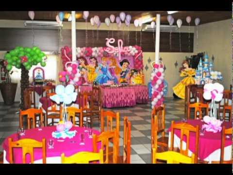 decoração festa infantil princesa.avi
