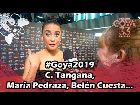 #Goya2019 Hablamos con C. Tangana, María Pedraza, Belén Cuesta...