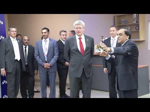 Prime Minister Stephen Harper Inaugurates ATN's  new Digital Broadcast Centre