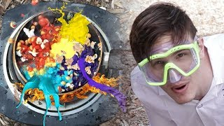 Popping Popcorn & Paint - Low Budget Slowmo Lad