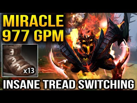 MIRACLE Shadow Fiend - 977 GPM Like Nothing with Miracle Dota 2
