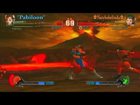 Street Fighter IV PS3 Online Matches Natybebelinda ( Sakura ) VS Pabiloon ( Chun-Li )