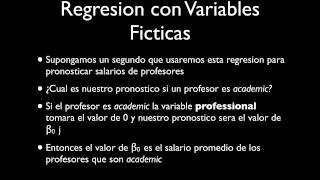 Regresion Lineal: Variables Ficticias