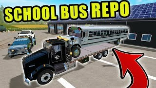 SCHOOL BUS REPO & TOWING WITH HELP FROM CLINT | FARMING SIMULATOR 2017
