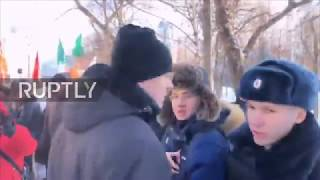 Russia: Seven detained at Kuril Islands protest in Moscow