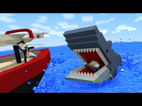 Jaws Shark Attack Animated! (Minecraft Animation)