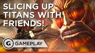 Defend the Wall Multiplayer Gameplay - Attack on Titan: Wings of Freedom
