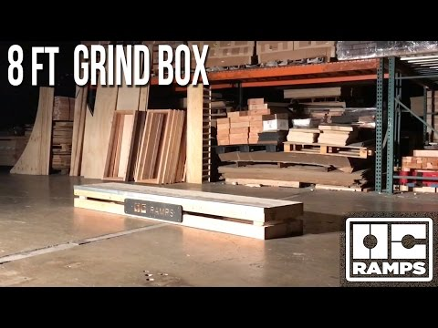 8ft long Grind Box by OC Ramps