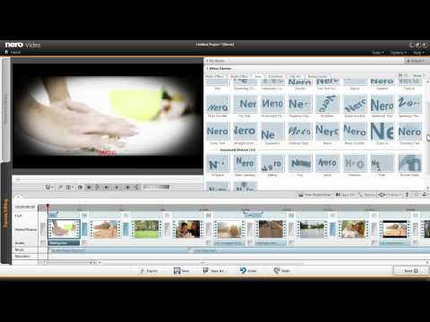 Import Windows Movie Maker projects into Nero Video and Burn to DVD
