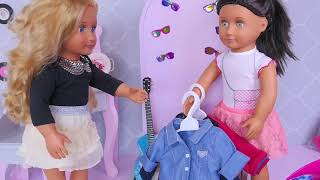 Sara baby doll 🤗 visit doctor👩⚕️ with braces toy for american girl dolls #3