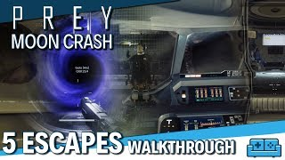 PREY: MOONCRASH DLC | ALL 5 ESCAPES COMPLETE RUN TIPS AND GUIDE