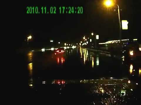 ДТП авария Уфа 30.09.2012 / Car accidents caught on tape crash