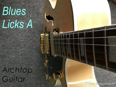 Blues Guitar Licks Video Lesson - Semi Acoustic,  Archtop Guitar.