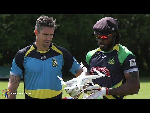 Who's the biggest hitter - Kevin Pietersen or Chris Gayle? | #CPL15