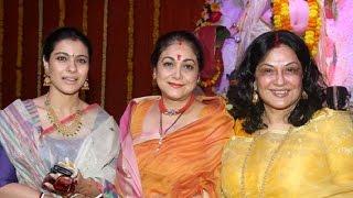 Alisha Chinai Performance and Moushumi Chatterjee at North Bombay Sarbojanin Durga Puja Samiti 2016