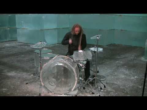 Hellacopters drummer trashes ice drum set - Part 1/2 Music Videos