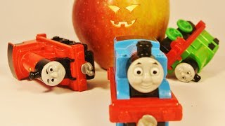 Apple ghost came out. The ghost chasing Thomas and Friends.  ⛅ Mister Toys