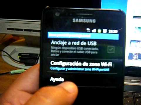 Samsung Galaxy S2 Compartiendo internet