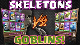 Clash Royale - *SKELETON DECK V's GOBLIN DECK!* Who WINS?! (Closest ever!)