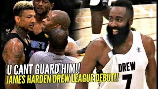 James Harden Drew League Debut Got SUPER HEATED!! NBA MVP vs Drew League MVP WENT AT IT!!