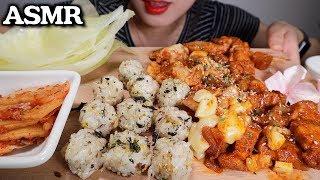 ASMR Stir-fried Spicy Pork & Rice balls 제육볶음 주먹밥 (Eating Sound) (No Talking)
