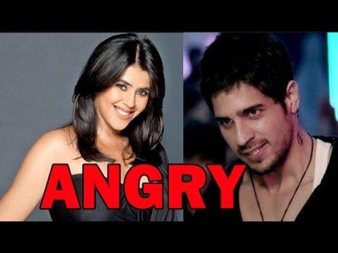 Sidharth Malhotra unhappy with Producer Ekta Kapoor  |  Bollywood News