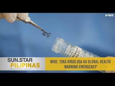 WHO: 'Zika virus usa ka global health warning emergency'
