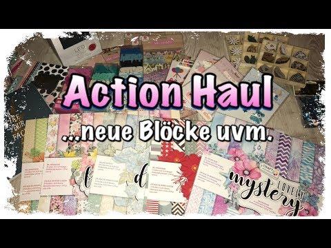 XL Action Haul (deutsch) neue Blöcke, neue Sticker uvm. Scrapbook basteln mit Papier, DIY