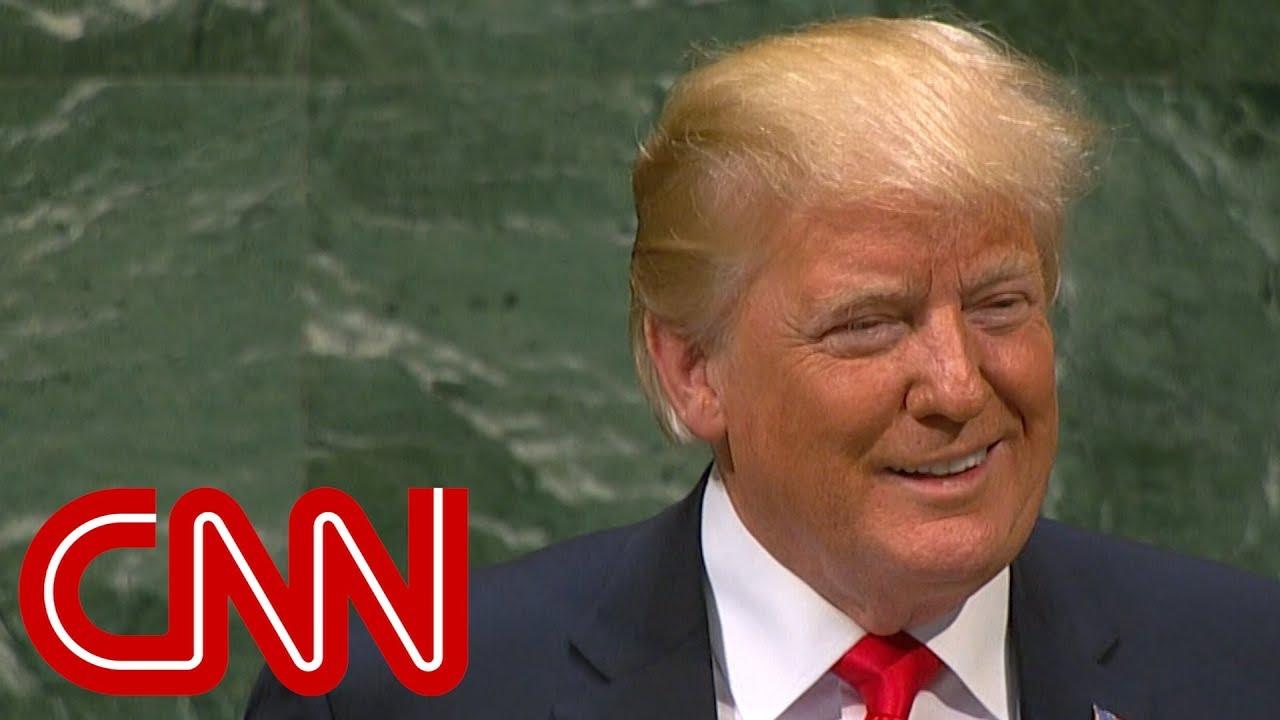 Trump brags at UN, crowd laughs