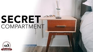 Secret Compartment Modern Nightstand