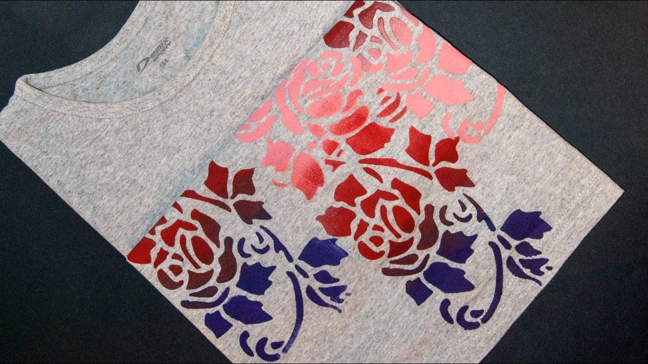 Роспись одежды акриловыми красками трафареты