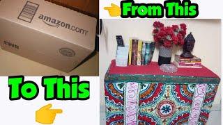 DIY Console Table using Cardboard Box || DIY TV Unit || Budget & Rental Friendly Idea