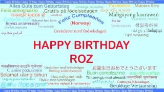 Roz   Languages Idiomas - Happy Birthday