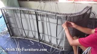 sản xuất giường nằm hồ bơi 455 tại xưởng đan mẫu minh thy furniture