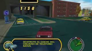 Simpsons Hit & Run *ESPAÑOL* Level 2 - Bart - Parte 3