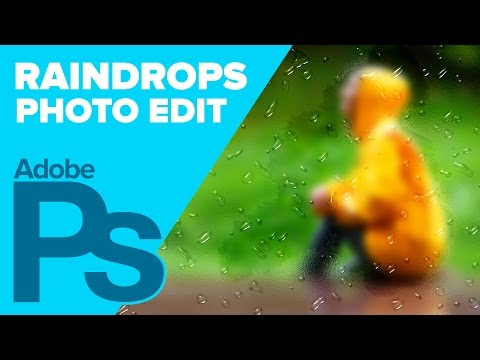 Photoshop: Create Raindrops on a Frosted Window   IceflowStudios
