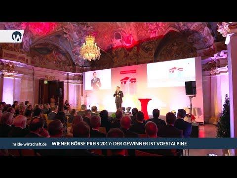 Wiener Börse Preis 2017: Gewinner ist voestalpine