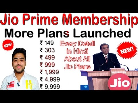 Jio Prime New Plans Launched | ₹149, ₹303, ₹499-2GB 4G Daily | Explained In Detail | Hindi