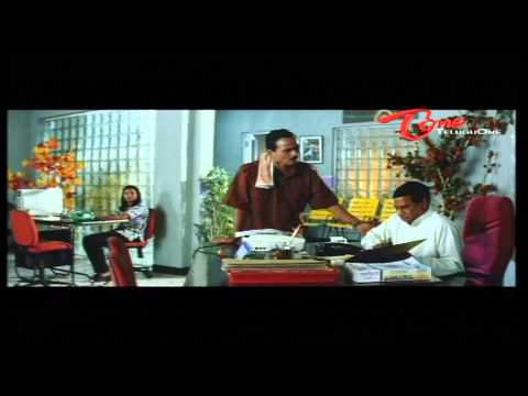 Office Comedy Scene Between M S Narayana - L B Sriram