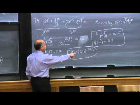 24. Quantum Mechanics VI: Time-dependent Schrödinger Equation
