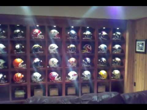 My football helmet display with autographs of some of the greatest players in nfl history.  I got th