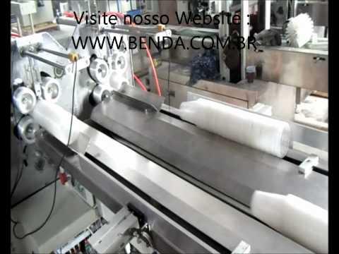 Maquina Automatica Para Contar e Embalar Copos Descartaveis