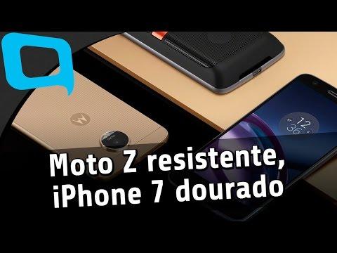 Moto Z resistente, iPhone 7 dourado e carregador bizarro – TecMundo