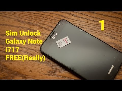 How To: NEW 2014 SIM Unlock Samsung Galaxy Note AT&T i717 FREE Part 1
