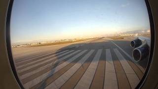 BA 747 Take off in Miami - View of Miami Beach! GOPRO!